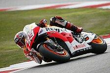 MotoGP - Marquez trotz schwerem Sturz im Warm-Up voran