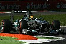 Formel 1 - 1. Training: Hamilton mit Bestzeit