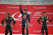 Formel 1 - Bilder: Korea GP - Podium