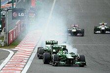 Formel 1 - Van der Garde zu schnell: Verwarnung