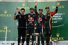Formel 1 - Vettel gewinnt Japan GP, Alonso Vierter