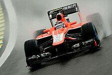 Formel 1 - Bianchi und Chilton: Nasses Neuland