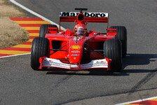 Michael Schumachers WM-Ferrari F2001 wird versteigert