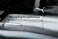 Formel 1 - Mercedes: Botschaft für Schumacher am Auto