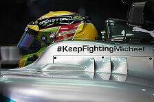 Formel 1 - Mercedes in Melbourne mit Schumi-Botschaft