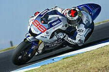 MotoGP - Phillip Island: Lorenzo erneut mit Testbestzeit