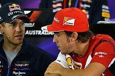 Formel 1 - Vettel nimmt sich Alonso zum Vorbild