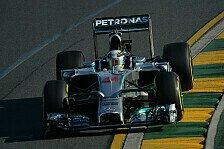 Formel 1 - 2. Training: Hamilton und Rosberg vorne