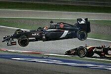 Formel 1 - Viel Kleinholz beim Nachtrennen von Bahrain