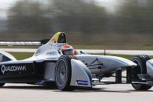 Formel E - Formel E testet in Donington