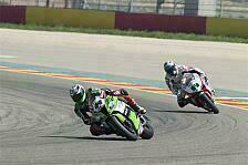 Superbike - EVO-Piloten mit Schwierigkeiten in Aragon
