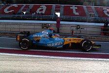 Formel 1 - Testing Time, Tag 1: Renault schlägt Ferrari