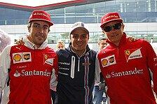 Massa, Alonso, Räikkönen: Young Driver Test privat