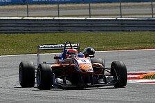 Formel 3 EM - Lucas Auer holt Siegerpokal auf dem Nürburgring