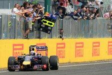 Formel 1 - Ricciardo gewinnt Chaosrennen in Budapest