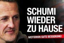 Formel 1 - Schumacher wieder zu Hause