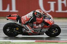 MotoGP - Ducati: Dovizioso mimt den Regengott