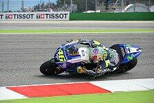 MotoGP - Rossi heizt Misano mit Warm-Up-Bestzeit an
