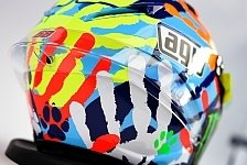 MotoGP - Bilder: San Marino GP - Valentino Rossis Spezialhelm für Misano