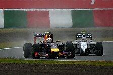 Formel 1 - Topspeeds: Red Bull schwimmt Williams davon
