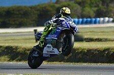 MotoGP - Marquez stürzt, Rossi erbt Sieg auf Phillip Island