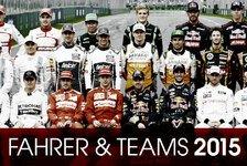 Übersicht: Fahrer & Teams für F1-Saison 2015