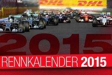Formel 1 - Übersicht: Formel-1-Rennkalender 2015