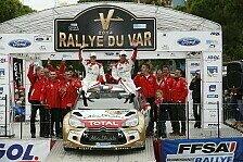 Mehr Rallyes - Sebastien Loeb gewinnt Rallye du Var