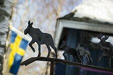 Kurios abgedriftet: Rallye Schweden