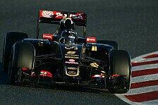 Formel 1 - Grosjean mit Schnapszahl zur Barca-Bestzeit