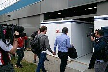 Formel 1 - Van der Garde in der Sauber-Garage