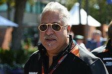 Formel 1 - Force India: Haftbefehl gegen Vijay Mallya