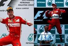 Formel 1 - Vettel über Schumacher: Große Fußstapfen