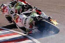 MotoGP - Abgebrannt: Hernandez' Ducati geht in Flammen auf