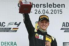 ADAC Formel 4 - Traumhaftes Wochenende für Schumacher