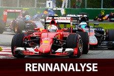 Formel 1 - Kanada GP - Rennanalyse: Vettels irre Aufholjagd