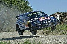 WRC - Volkswagen vor Flugshow bei Rallye Finnland