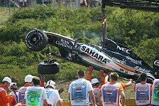 Formel 1 - Schrecksekunde bei Force India