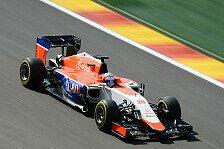 Formel 1 - Guter Start für die Manor-Piloten