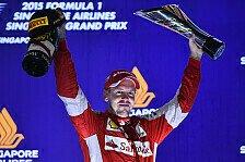 Formel 1 - Sieg Nummer 42: Vettel überholt Senna