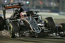 Formel 1 - Bilder: Singapur GP - Unfall Hülkenberg/Massa