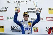 ADAC Formel 4 - Hockenheim: David Beckmann ist Rookie-Meister