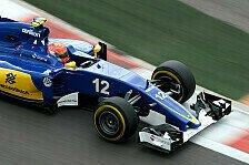 Formel 1 - Sauber: Nasr Sechster, Ericsson früh raus