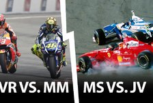 Formel 1 - Rossi vs. Marquez wie Schumacher vs. Villeneuve