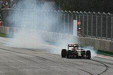 Formel 1 - Maldonado im Niemandsland der Ergebnisliste