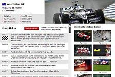 Formel 1 - Ihr Draht nach Melbourne: Qualifying & Rennen live bei adrivo.com