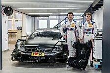 DTM - Sebastian Asch und Luca Ludwig testen DTM-Mercedes