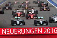 Formel 1 - Fahrer, Teams und Strecken: Neuerungen 2016