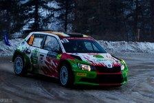 WRC - Video: Monte Carlo: Fans richten umgefahrenen Mast wieder auf