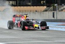 Formel 1 - Regenreifen-Test, Tag 1: Riccardo fährt Bestzeit